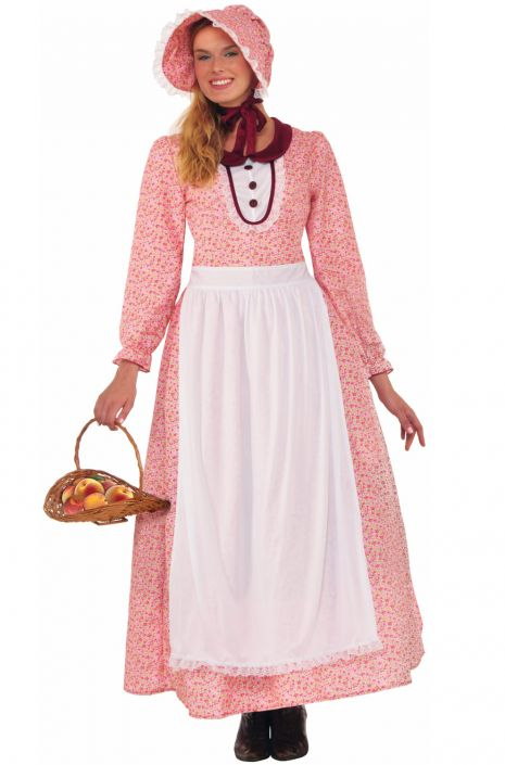 1900s, 1910s, WW1, Titanic Costumes American Pioneer Woman Adult Costume $36.99 AT vintagedancer.com