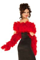 Deluxe Feather Boa (Red)