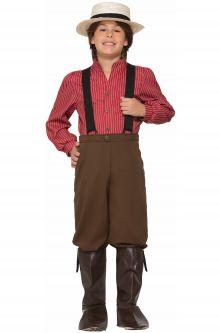 American Pioneer Boy Child Costume