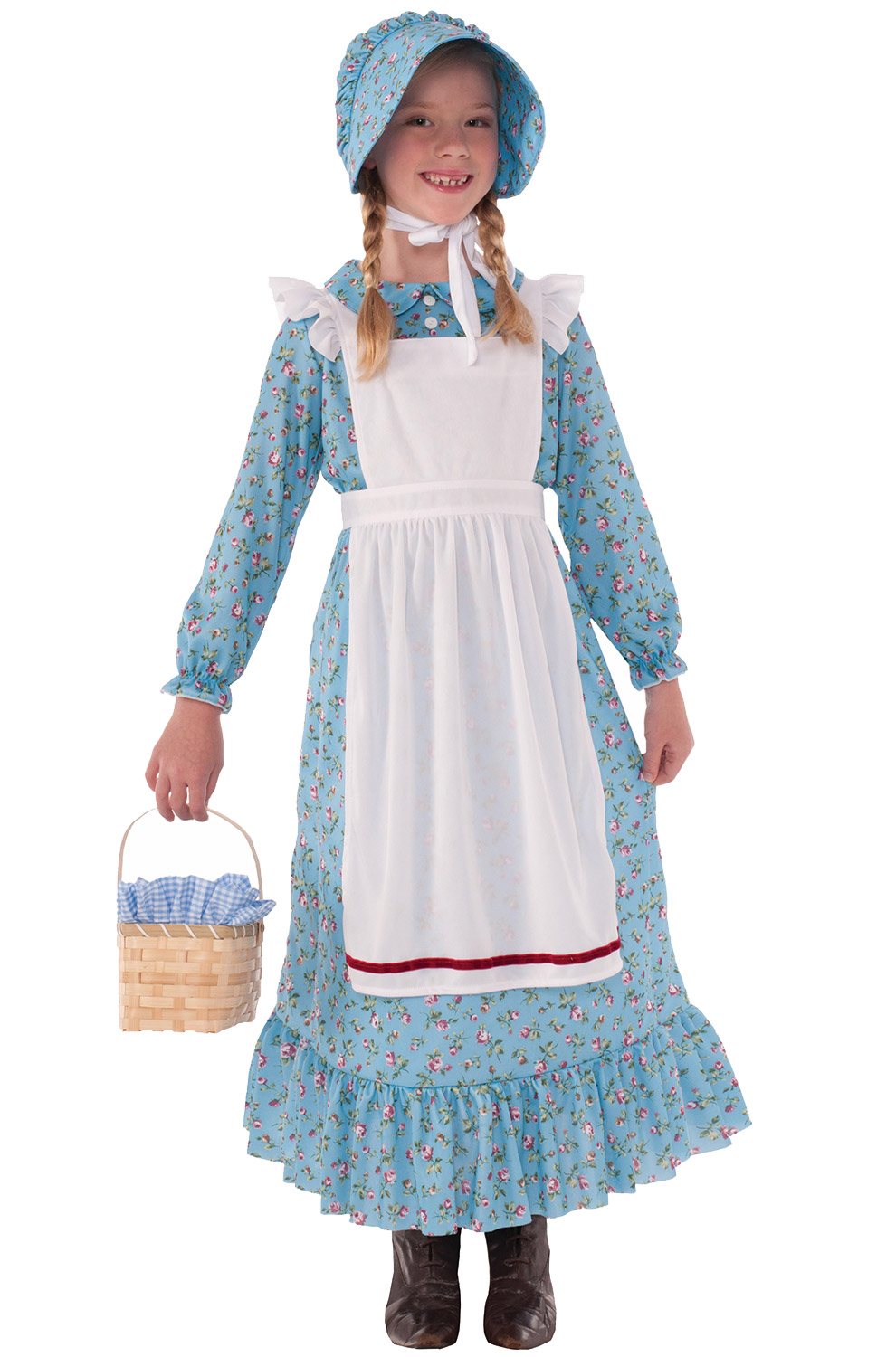 American Pioneer Girl Child Costume (Large) - PureCostumes.com