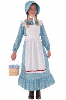 American Pioneer Girl Child Costume