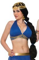 Belly Dancer Harem Top Adult Costume (Blue)