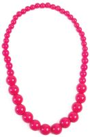 Hot Pink Big Pearls Necklace