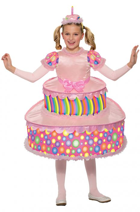 Groovy Birthday Cake Child Costume Medium Purecostumes Com Funny Birthday Cards Online Barepcheapnameinfo