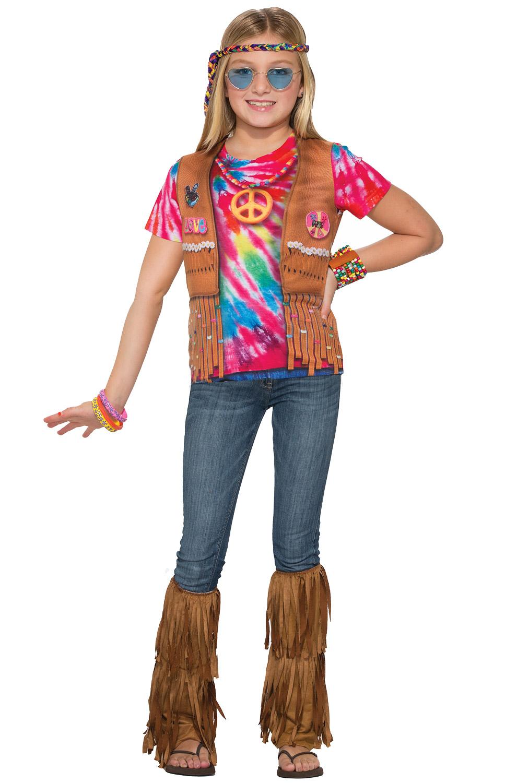 Brand New Hippie Girl 1960's Shirt Child Costume (Medium ...