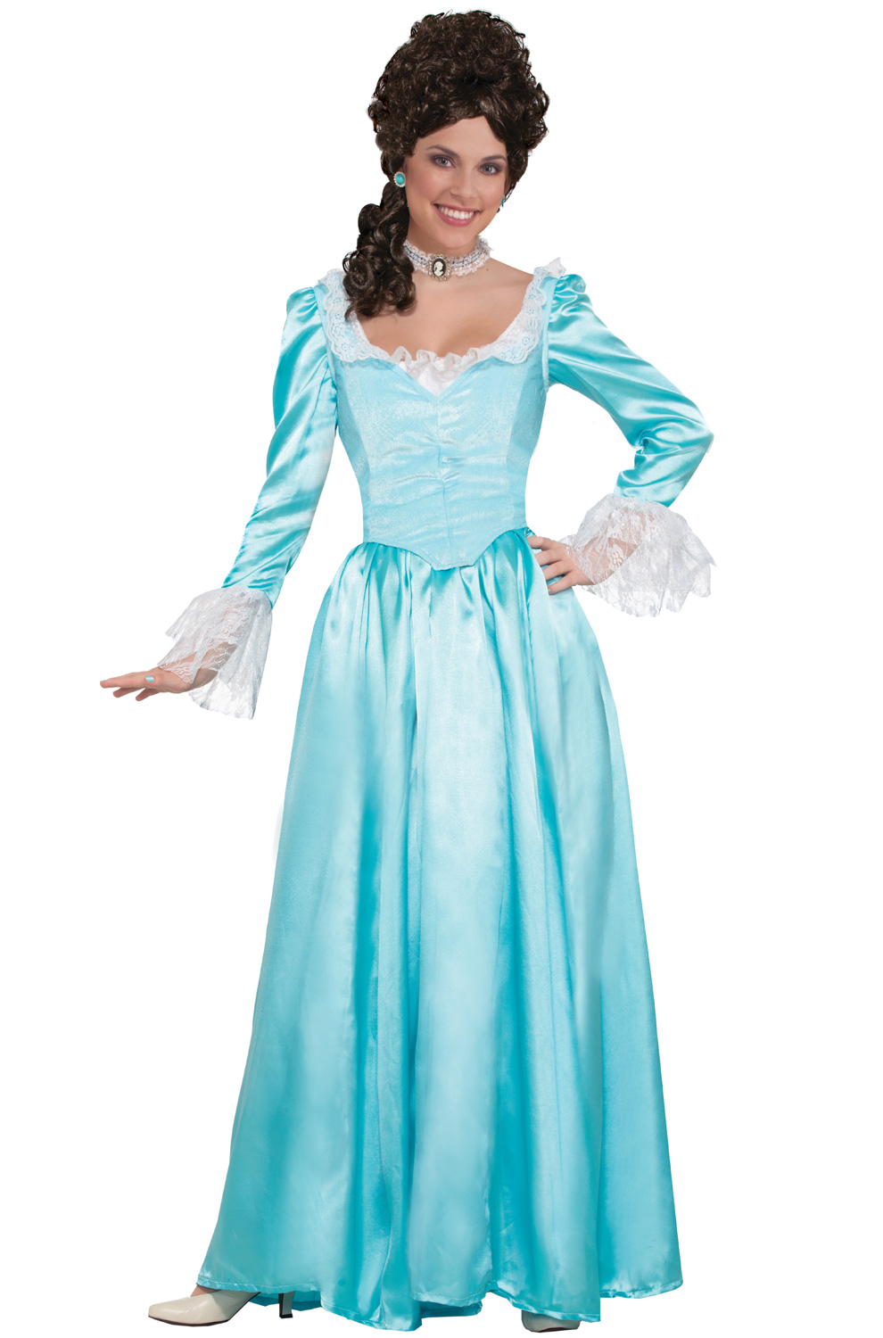 Blue Colonial Lady Adult Costume (Medium)  sc 1 st  Pure Costumes & Famous People Costumes - Celebrity DIY Dress-Up Ideas - PureCostumes.com