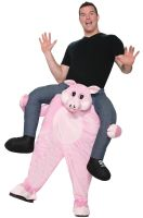 Ride-On Piggy Back Ride Adult Costume