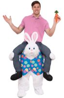 Ride-On Hop on Top Bunny Adult Costume