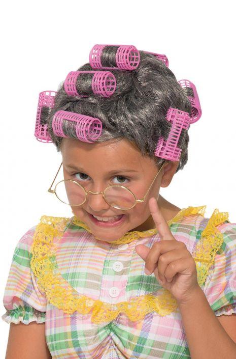 Aunt Gertie Child Costume Wig - PureCostumes.com