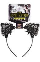 Lace Black Cat Ears Headband