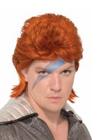 Orange Rock Star Adult Wig