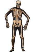Skeleton Skin Suit Adult Costume (XL)