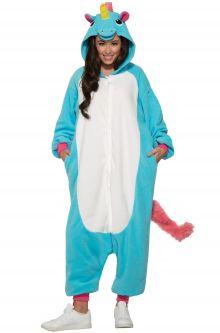 Blue Unicorn Jumpsuit Adult Costume Gay Pride Fashion