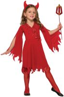 Delightful Devil Girl Child Costume (Large)