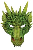 Green Dragon Half Mask