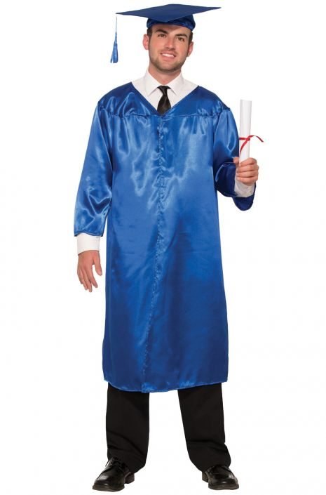 Graduation Robe Adult Costume (Blue)  sc 1 st  Pure Costumes & Graduation Robe Adult Costume (Blue) - PureCostumes.com