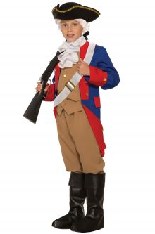 Home School Historical Costumes Patriotic Soldier Child Costume