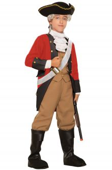 Home School Historical Costumes British Red Coat Child Costume