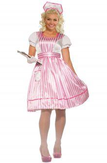 Candy Striper Nurse Plus Size Costume  sc 1 st  Pure Costumes & Plus Size 1950u0027s Costumes - PureCostumes.com