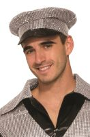 Sequin Officer Hat (Silver)
