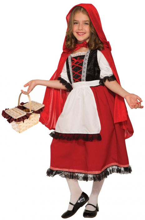 Pretty Red Riding Hood Deluxe Child Costume Large Purecostumes Com
