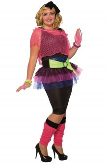 80u0027s Girl Plus Size Costume  sc 1 st  Pure Costumes & Plus Size Costumes - PureCostumes.com