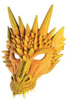 Yellow Dragon Half Mask