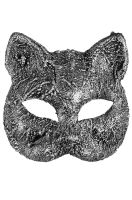 Textured Cat Mask (Silver)