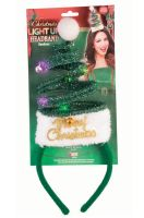 Light Up Christmas Tree Headband (Green)