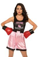 Pink Female Boxer Adult Costume