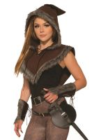 Fur Trim Hooded Viking Capelet