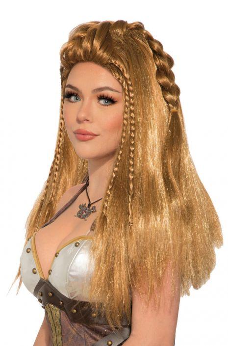Viking Female Warrior Wig Brown