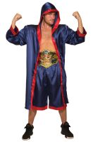 Blue Male Boxer Adult Costume