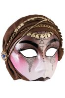 Fortune Teller Mask with Scarf (Brown)