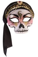 Fortune Teller Mask with Scarf (Black)