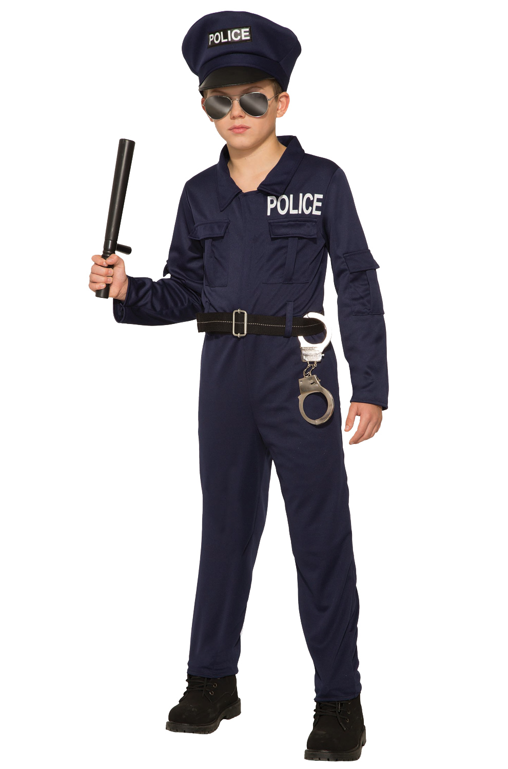 Brand New Police Jumpsuit Child Costume Small