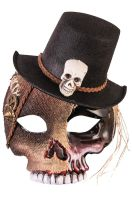 Voodoo Skull Mask with Hat