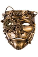 Moustached Man Steampunk Mask
