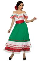 Fiesta Party Dress Adult Costume (X-Large)