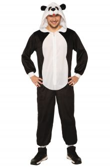 Expensive vs Affordable Costumes Hooded Panda Jumpsuit Adult Costume