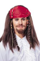 Buccaneer Wig with Bandana (Brown)