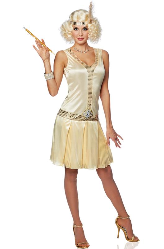 20's Debutante Adult Costume (Champagne) - PureCostumes.com Funny ...