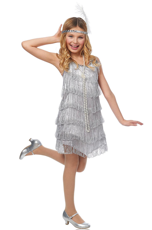 Silver Flapper Child Costume Purecostumes Com