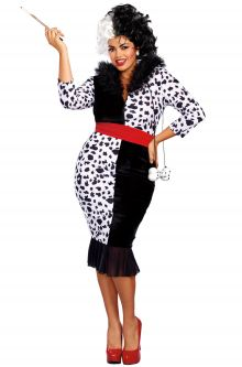 2017 New Costume Picks Dalmatian Diva Plus Size Costume