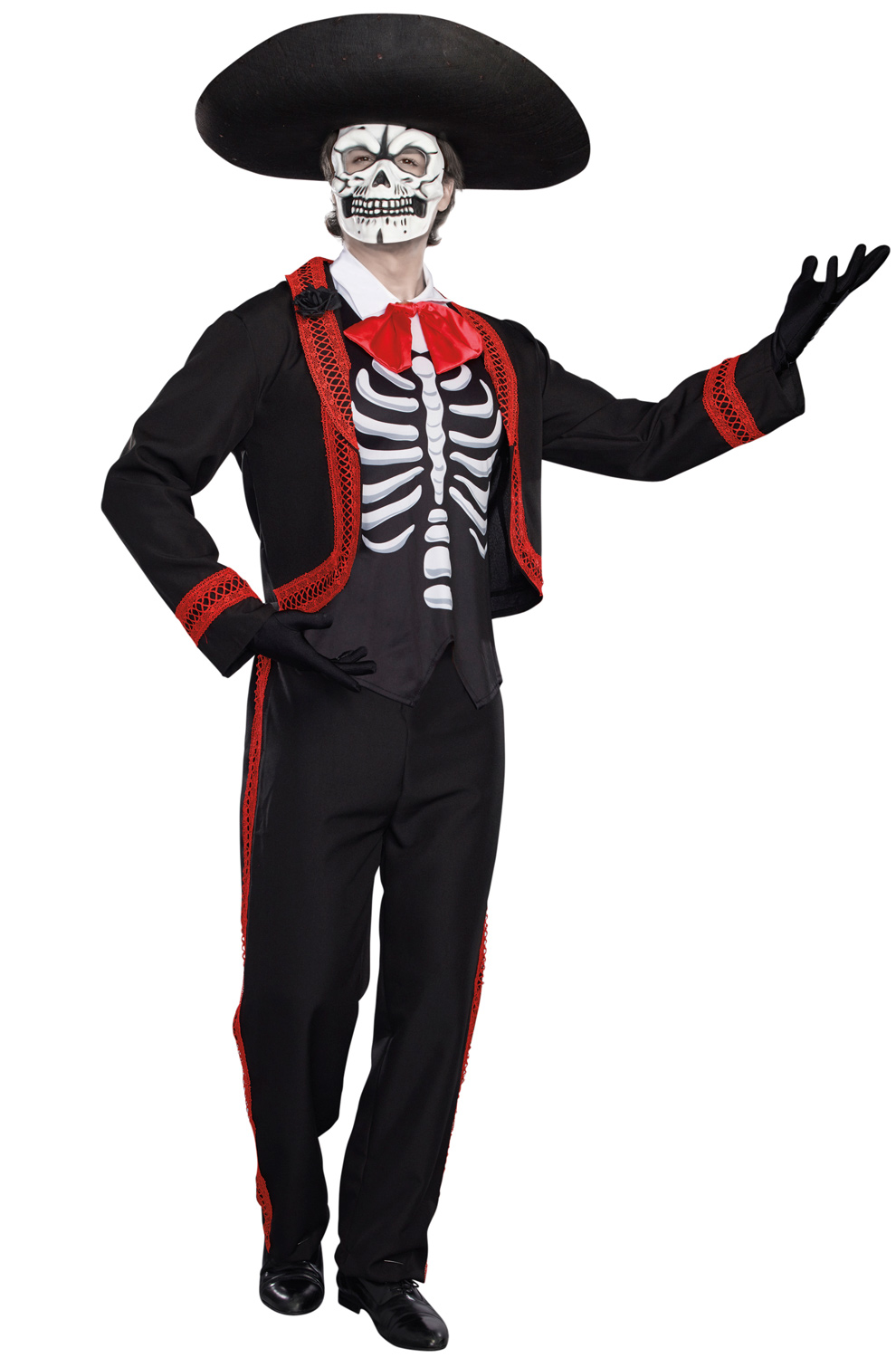 Mariachi Costume Adult Day of the Dead Dia de los Muertos Halloween Fancy Dress