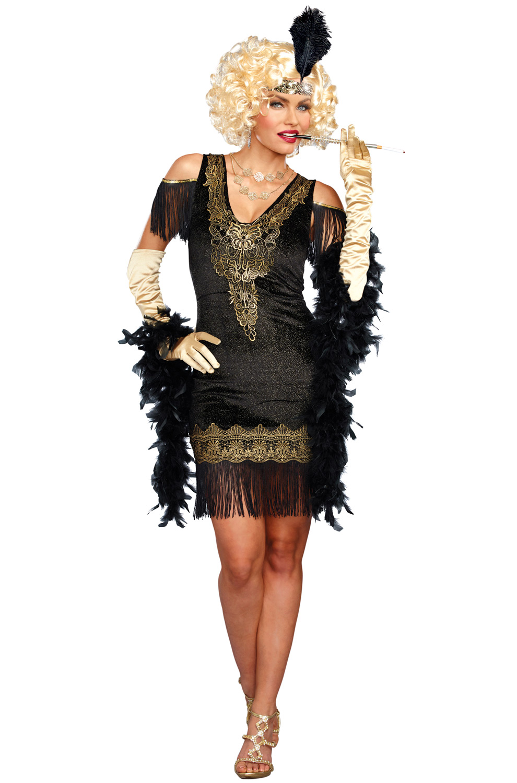 Swanky Flapper Adult Costume Purecostumes Com