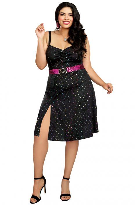 3e30d1857e8b Disco Diva Babe Plus Size Costume - PureCostumes.com