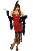 Ruby Red Flapper Adult Costume