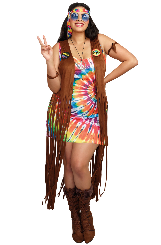 Hippie Hottie Plus Size Costume Purecostumes Com