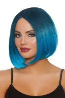 Mid-Length Ombre Bob Wig (Steel Blue/Bright Blue)